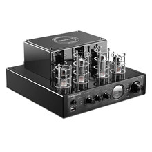 Nobsound MS-10Dhifi Stereo Tube Amplifier Integrated Hybrid Valve Power Amplifier - Bluetooth Upgrade III Black(China)