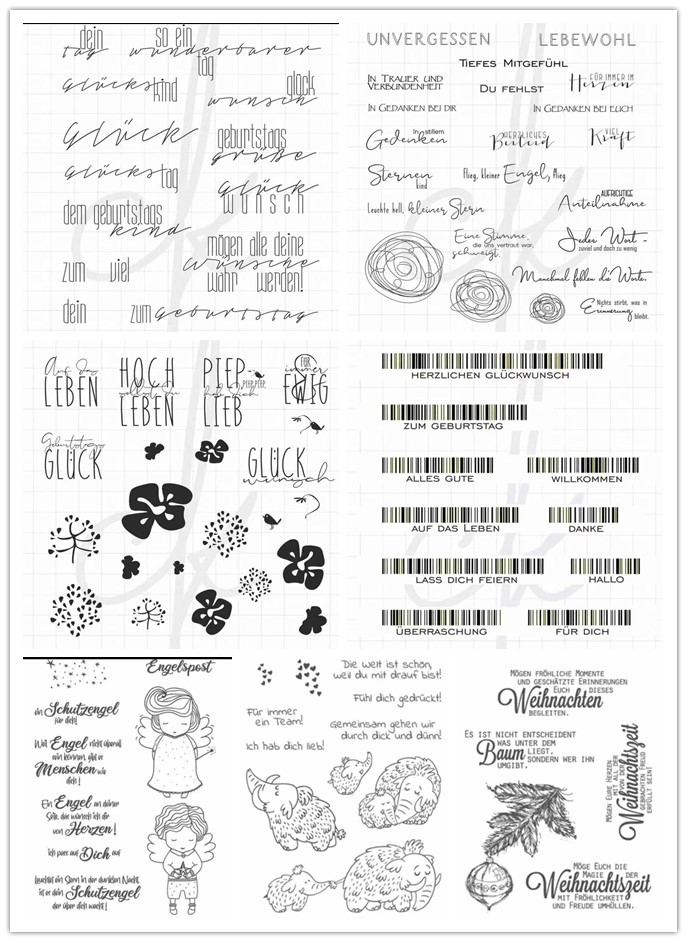 German Transparent Clear Stamps for DIY Scrapbooking/Card Making/Kids Christmas Fun Decoration Supplies