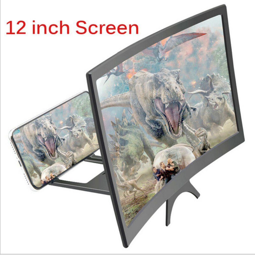 12 Inch 3D Cell Phone Screen Projector HD Expander Enlarge Curved Screen Magnifier Amplifier For Mobile Phone Video