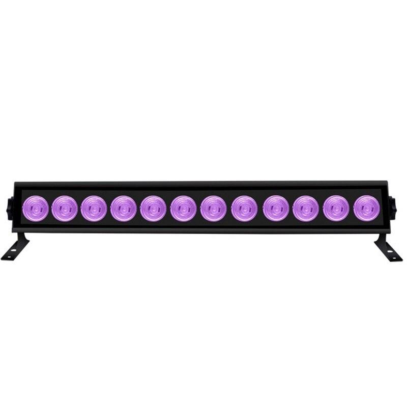 Işıklar ve Aydınlatma'ten Sahne Aydınlatması Efekti'de 12 LED UV parti disko noel Bar siyah lamba UV menekşe duvar yıkayıcı LED sahne efekti ışıkları Blacklight Spot ışık doğum günü için title=