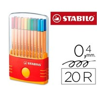 MARKER STABILO FIBER NIB POINT 88 COLOR PARADE 'S CASE 20 MARKERS