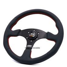 14inch Mugen Genuine Leather Steering Wheel Tuning Drift Steering Wheel