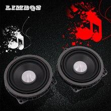 цены 2pcs 4.5 inch car mid range speaker for bmw 1 2 3 4 X1 X3 X4 series car sound horn loudspeaker bugle full range frequency horn