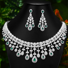 Earring-Set Bridal-Jewelry-Set Drop Necklace GODKI Luxury Dubai Wedding Full-Cubic-Zircon
