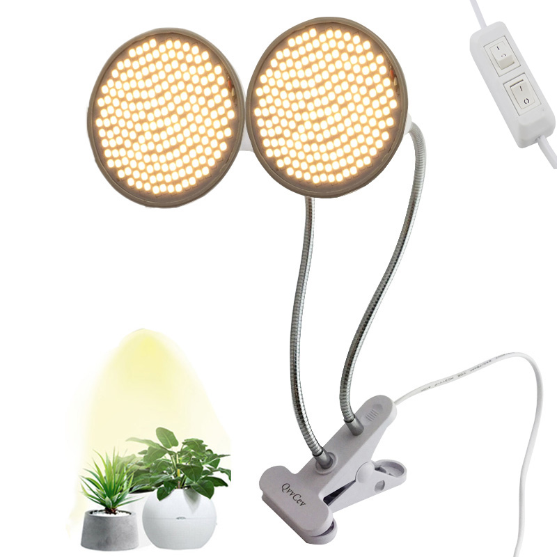 200 LED Sunlight Grow Light Full Spectrum Phyto Yellow Lamp Hydro Fitolamp Growbox Plant Clip Vegetable Flower Seeds Greenhouse