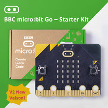Latest Micro:bit V2 Board go kit comes with 25 LED display in-built speakers Bluetooth and sensors for temperature motion& light