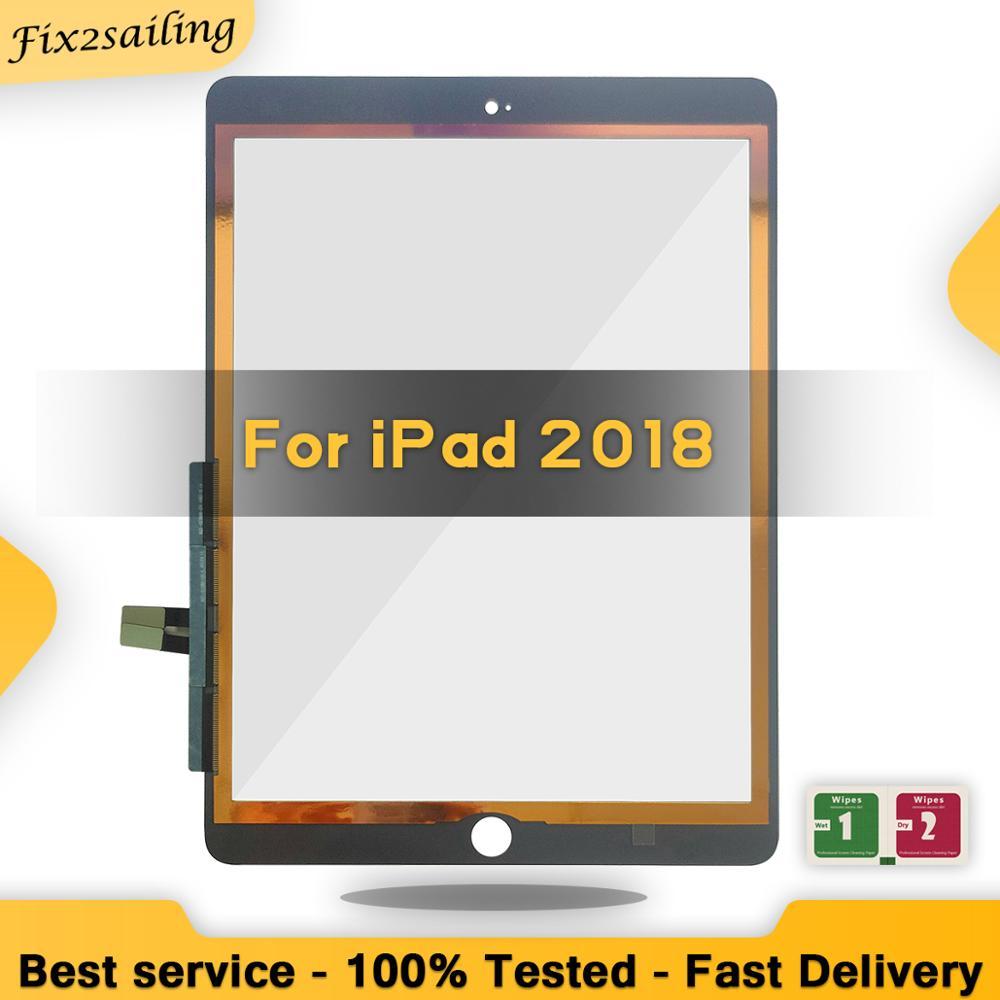 Новый сенсорный экран для iPad 2018 A1893 A1954, дигитайзер сенсорного экрана, передняя стеклянная сенсорная панель для iPad 6 6-го поколения SSS + Качеств...