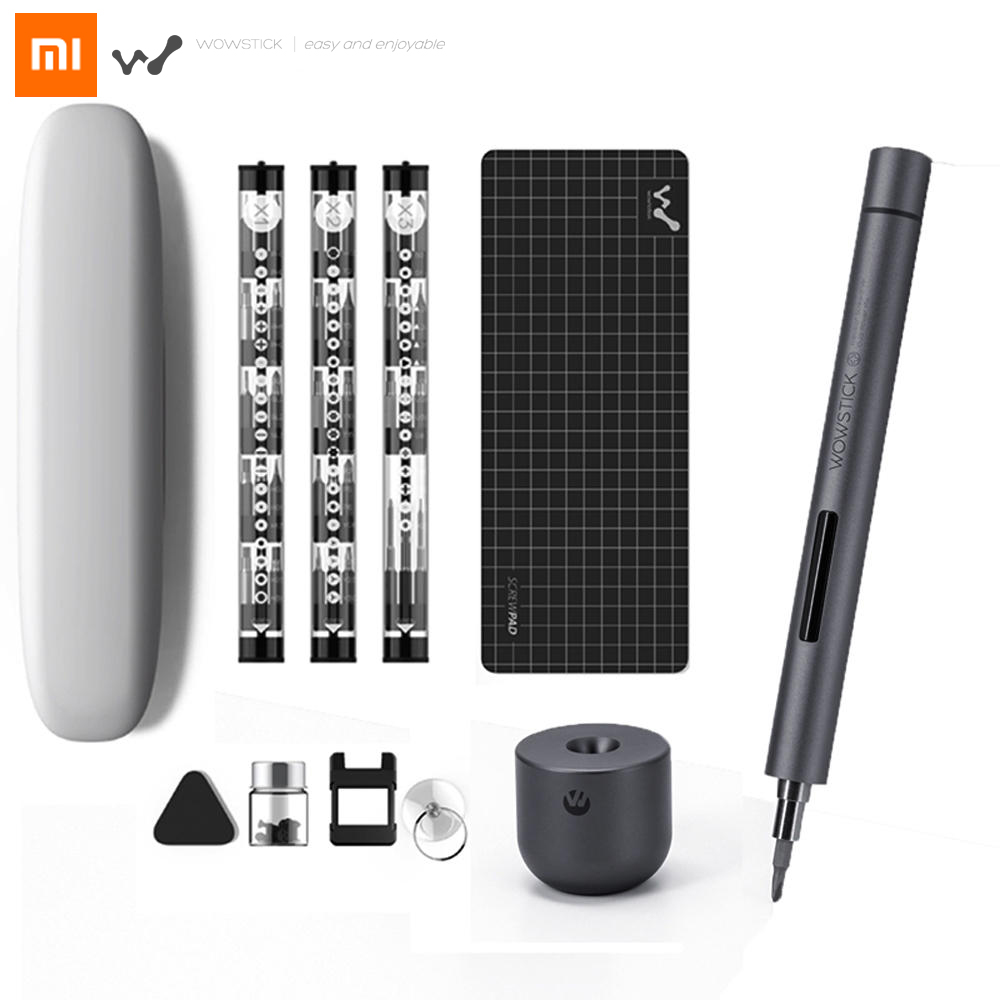 Original Xiaomi Mijia Wowstick 1F+ 64 In 1 Electric Screw Driver Cordless Lithium-ion Charge LED Power Home Screwdriver Kit