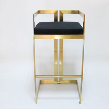 Bar Stool Front-Desk-Chair High-Chair Gold Coffee-Shop No for Stainless-Steel Legs Ergonomic