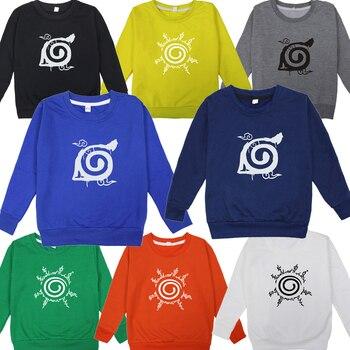 Naruto Pattern Sportswear Women Boy Casual Sportswear Funny Casual Sportswear Tops Cotton Sweatshirt фото