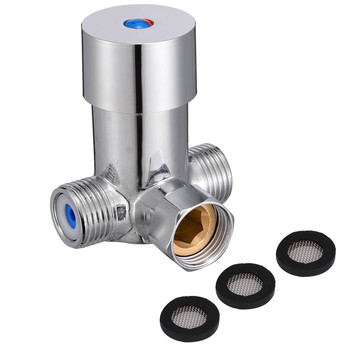 Hot Cold Water Mixing Valve Temperature Control Thermostatic Mixer Valve Sensor Tap For Bathroom Shower Faucet Hardware hot cold thermostatic mixing valve 22mm copper bathroom faucet shower control mixer water heater
