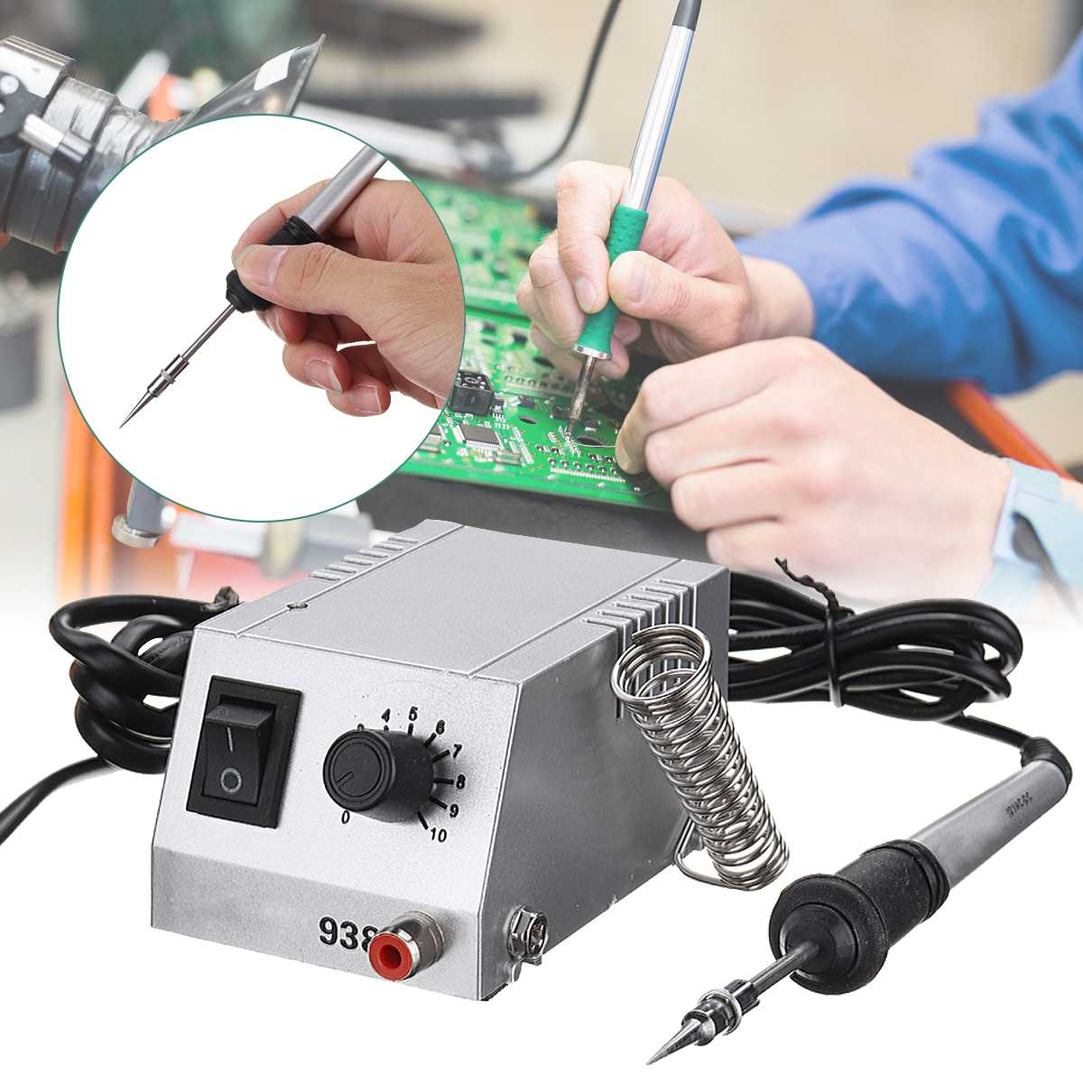 Mini Solder 2-in-1 SMD Soldering Station 12V Digital Display Rework Solder Station And Electric Soldering Iron  110V/220V
