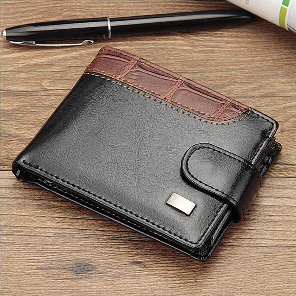 2020 جديد الرجال محافظ اسم النقش البريطانية محفظة الذكور عادية متعددة الوظائف سستة محفظة حمل بطاقات للرجال Portomonee