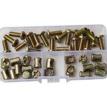 цена на Hex Drive Socket Cap Head Furniture Screw Metric Thread Hexagon Bolt Assortment Kits M6X15-60mm Zinc Plate