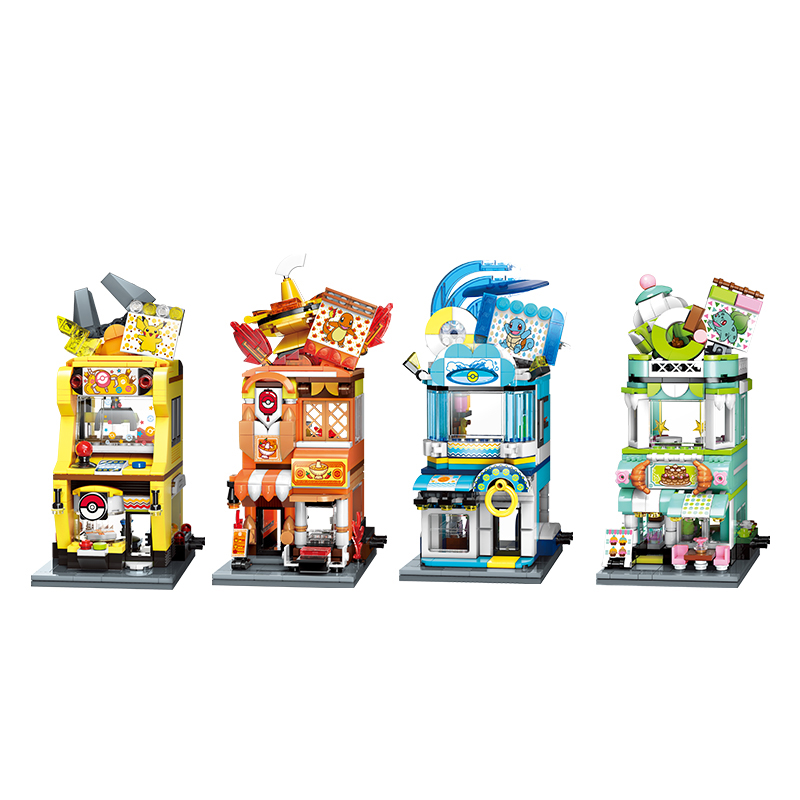 New Style ideas Anime Pokemon Building Blocks Charizard pikachu Squirtle Bulbasaur Assembly Model Educational Kids Toys For Gift 1