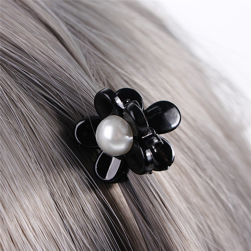 Plastic Hair Claw Clamps Black Hairpins Accessory Clips Mushroom Cap Hair Gift