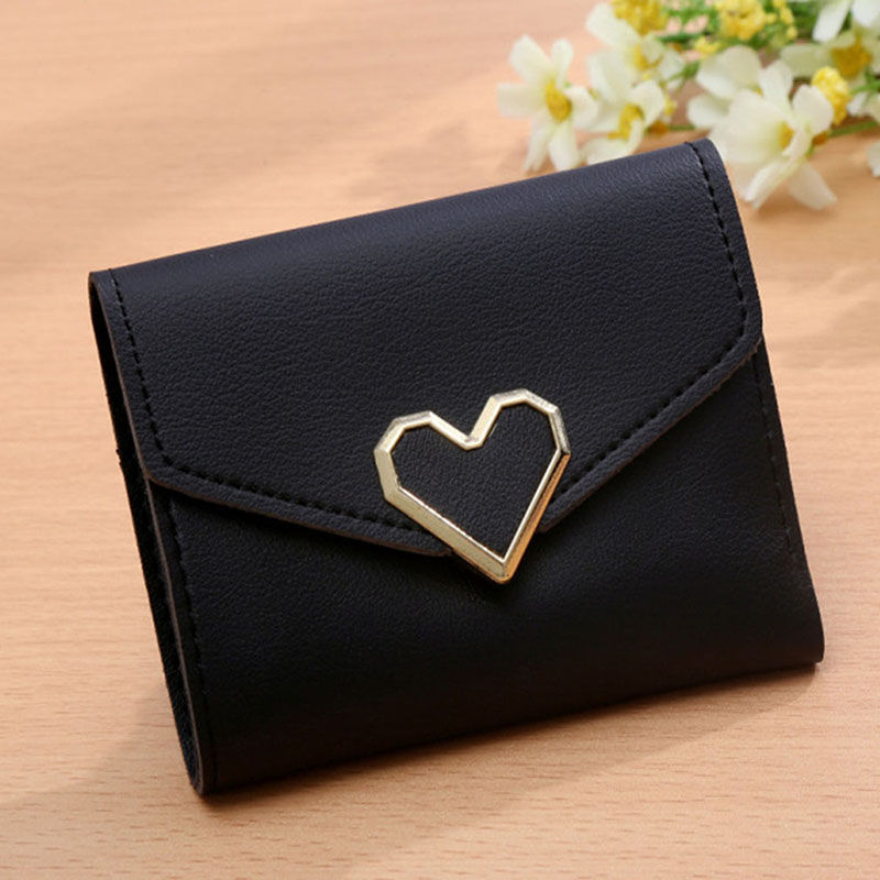 Creative New Fashion Wallet Women Simple Short Wallet Hasp Coin Purse Card Holders Handbag Drop Shipping Love Cute short wallet