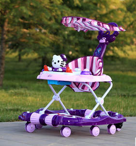 Baby Walker Toys Child Multi-Function Car-Rollover with for Scooter Music-Carriage Rock