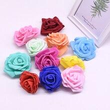 10/30pcs 8cm Artificial Rose flower PE Foam Flower Head  DIY Wreaths Garden Decoration for Wedding Home Decoration Supplies недорого