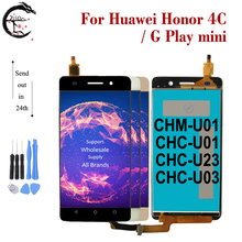 ЖК дисплей с рамкой для Huawei Honor 4C, ЖК дисплей, дигитайзер сенсорного экрана в сборе для Huawei G Play, мини дисплей с рамкой, CHM U01