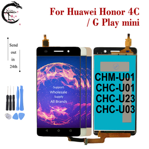 Image 1 - LCD With Frame For Huawei Honor 4C LCD Display Screen Touch Digitizer Assembly For Huawei G Play mini Display CHM U01 CHC U23
