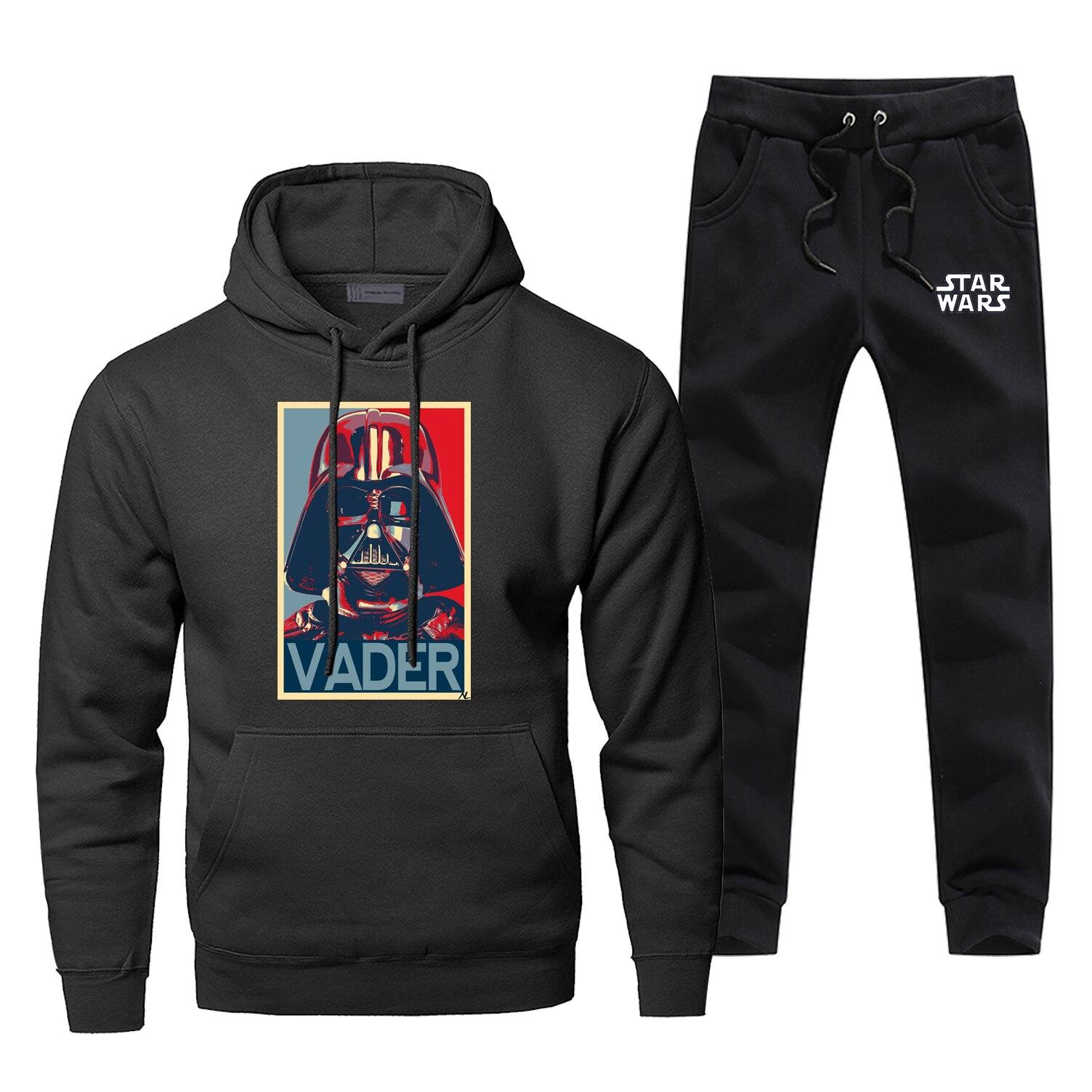 Hoodie Pants Set Star Wars Men Sweatshirt Male Darth Vader Hoodies Sweatshirts Mens Sets Two Piece Pant Pullover Starwars Coat