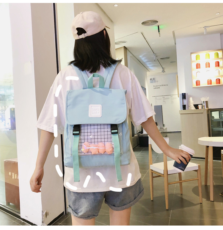 Kawaii Korean Style Canvas College Backpack
