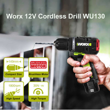 WORX WU130 12V Brushless Motor Drill Cordless Electric Drill Screwdriver 30N.m Power Tools