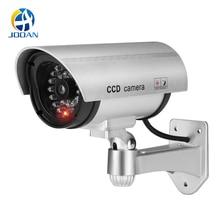 Câmera de vigilância impermeável do cctv da segurança do manequim da câmera falsa com a luz conduzida câmera interna exterior da simulação