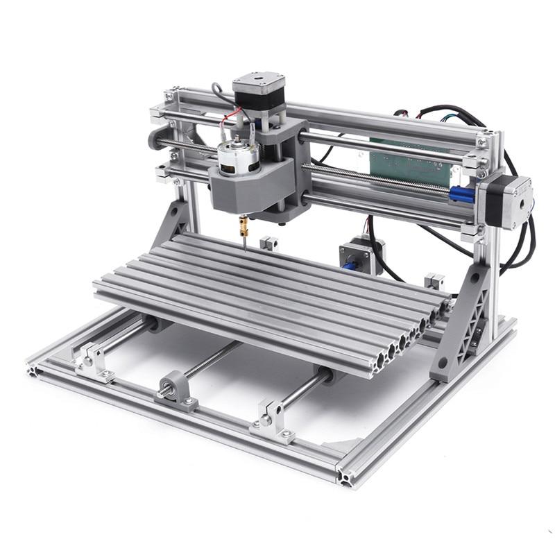 CNC oyma makinesi 3018 Mini DIY CNC Router standart mili motoru ahşap Metal gravür yazıcı freze oymacı