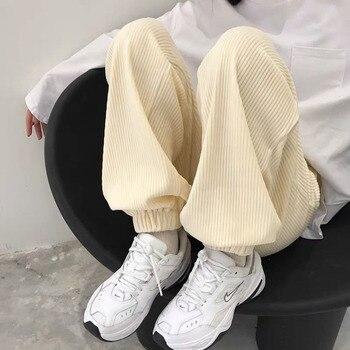 Otoño pantalones de pana de los hombres de moda Retro de algodón pantalones casuales pantalones de los hombres Streetwear salvaje suelta Hip-hop Pantalones rectos hombre M-2XL