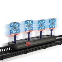 Voice Broadcast Electronic Scoring Auto Reset Shooting Digital Target For Water Gels Blaster Foam Darts Blaster