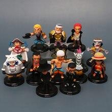 ¡Una pieza Luffy Shankusu Buggy Moria Lucci Q Ver! Figuras de acción de 10 ° aniversario, Juguetes de Anime, modelo de Juguetes para niños, regalo, 12 Uds.