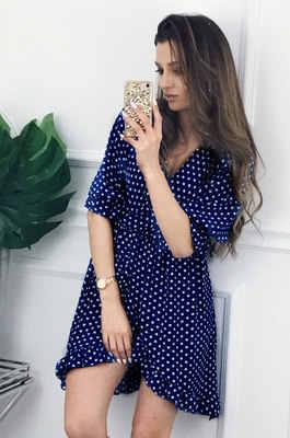 2020 נשים שמלת הדפסת הברך אורך שמלות V-צוואר שמלות קצר שרוול לפרוע בוהמיה נקבה שמלות