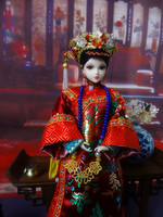 Chinese Ancient Girl Dolls 1/6 Collectible Oriental BJD Princess Doll With Stand Toys Qing Dynasty Empress Dowager Series