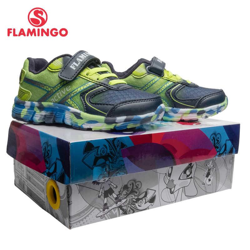 פלמינגו אביב ספורט ריצת ילדי נעלי וו & לולאה חיצוני כהה Sneaker לילדים גודל 23-29 משלוח חינם 91K-JSZ-1301
