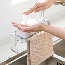 New ABS Plastic Hot Sink Hanging Storage Rack Holder Faucet Clip Bathroom Kitchen Dishcloth Clip Shelf Drain Dry Towel Organizer