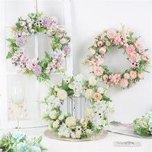 Artificial Simulation Peony Artificial Flowers Wreaths Door Perfect Garland for Home Room Garden for Wedding Party Decoration