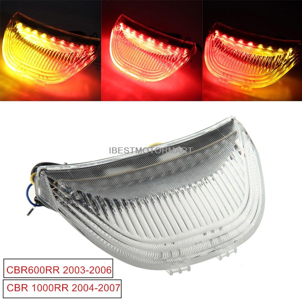 Fireblade Smoke LED Tail Light With Turn Signals For 2005 Honda CBR 1000RR