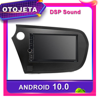 Frame android 10.0 car dvd player stereo car radio for Honda Insight Car GPS multimedia USB AUX bluetooth NAVI tape recorder