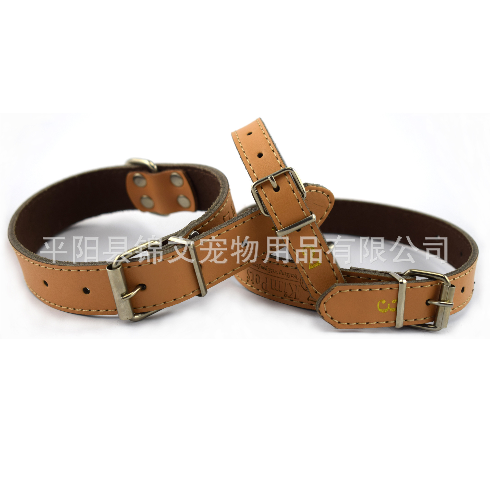 Genuine Leather Pet Collar For Pet Supplies Second Layer Pure Leather Dog Necklace