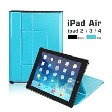 все цены на Case for iPad 2 3 4 Stand Magnetic Smart Cover Auto Sleep/Wake Folding PU Leather Funda for iPad2 iPad3 iPad4 Case онлайн