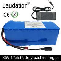 Laudation 36 V 12ah vélo électrique batterie au lithium 36 V 18650 batterie pack moto voiture électrique vélo Scooter avec 15A BMS