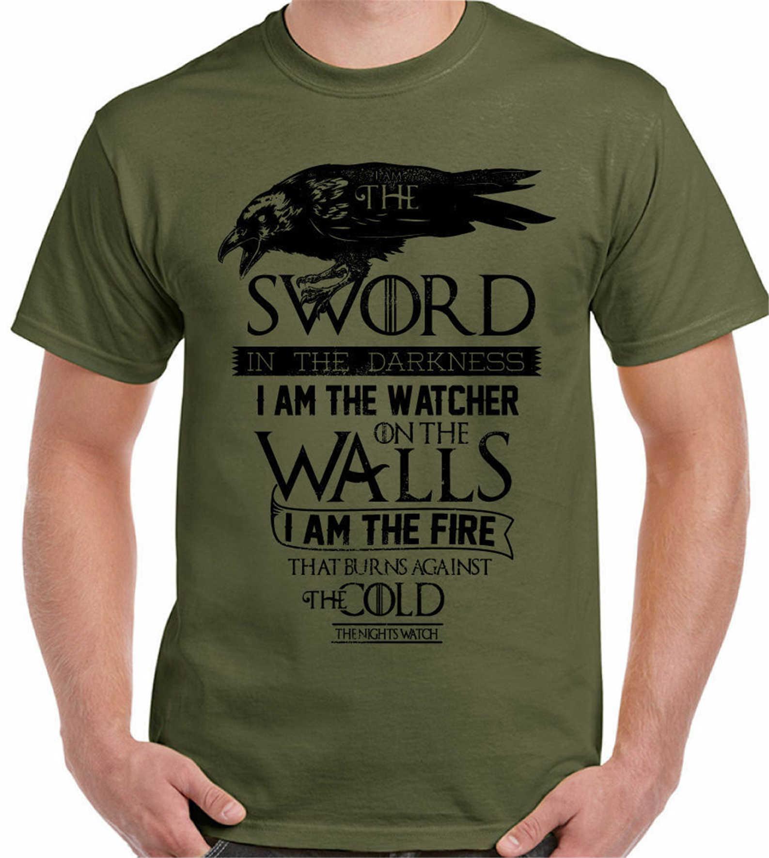 Game Of Thrones T-shirt Aku Pedang Pria Punya Jon Snow John Bernapas Pria Atasan Kaos
