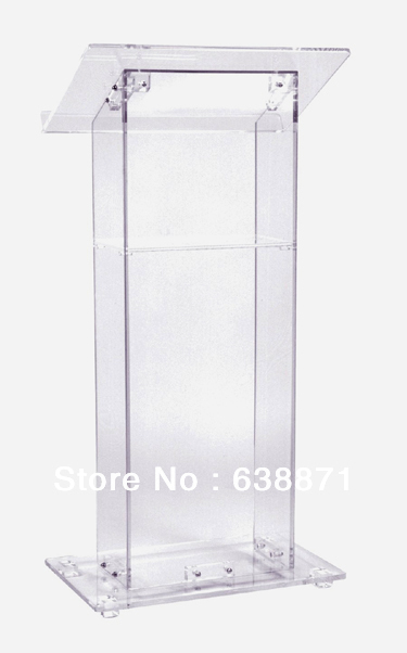 Free Shipping Hot Selling Acrylic Lectern Church Lectern Plexiglass Podium With Storage