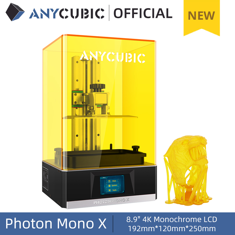 ANYCUBIC Photon Mono X 3D Printer 8 9 inch 4K LCD UV Resin Printers 3D Printing High Speed APP Control 3D Printers