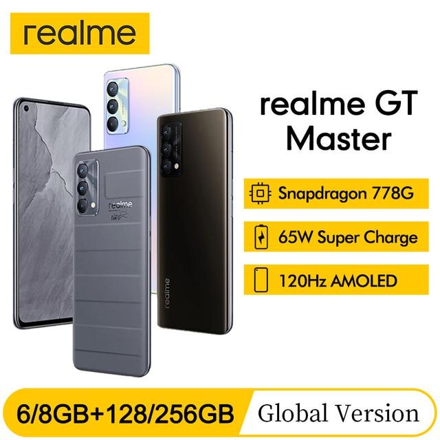 "Global Version realme GT Master Edition 6.43"" Smartphone Snapdragon 778G Octa-core 128GB/256GB 120Hz Super AMOLED Super Dart 65W 1"
