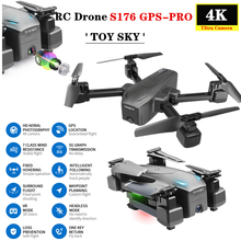 S176 GPS Drone 4K HD dual camera 5G WIFI FPV optical flow Follow ME Helicopter Altitude Hold RC Quadcopter mini Dron VS SG907