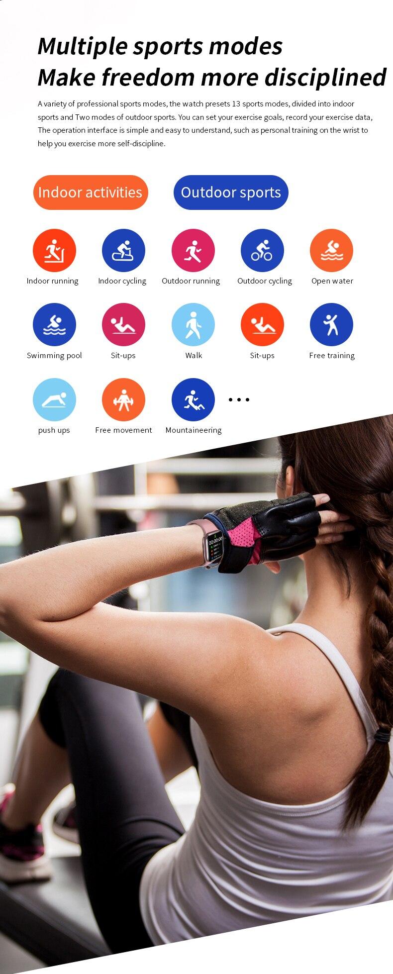 Hf6a690ae37d64aa9ab43cfa1062e7014t Original HW16 44mm Smart Watch Series6 Men 320*385 Screen Custom Picture Smartwatch Women BluetoothCall 2021 pk FK88 IWO13 W46