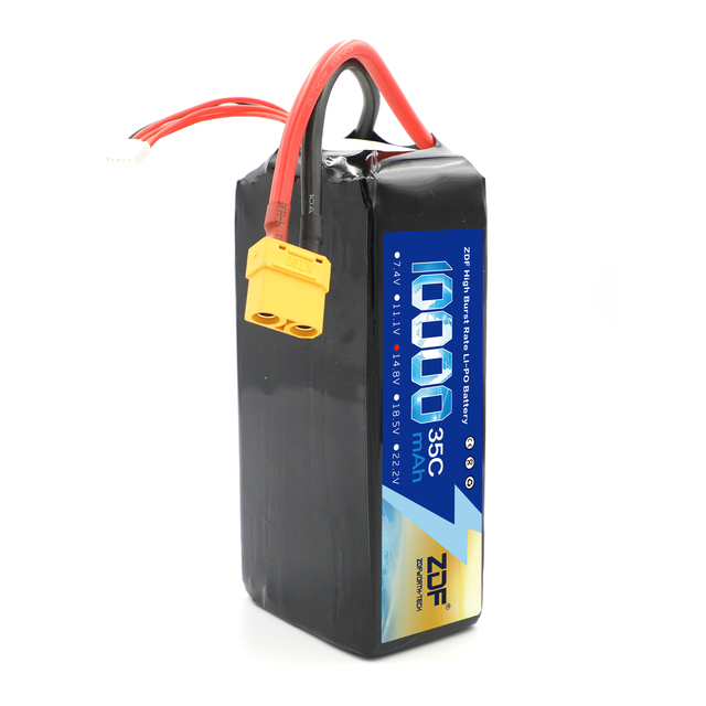 ZDF 4S 5S 6S 14.8V 18.5V 22.2V 10000mAh 35C MAX 70C RC Lipo Battery For RC Helicopter Airplane Drone racing 1:5 1:8 car